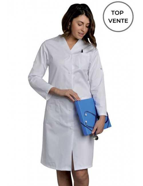 Blouse médicale longue, Femme manches longues, SNV (JULRM000)