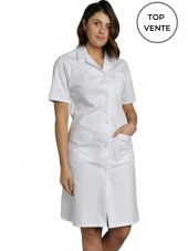 Blouse médicale Femme blanche manches courtes Poly/Coton Madona, SNV (MADCP00000) top
