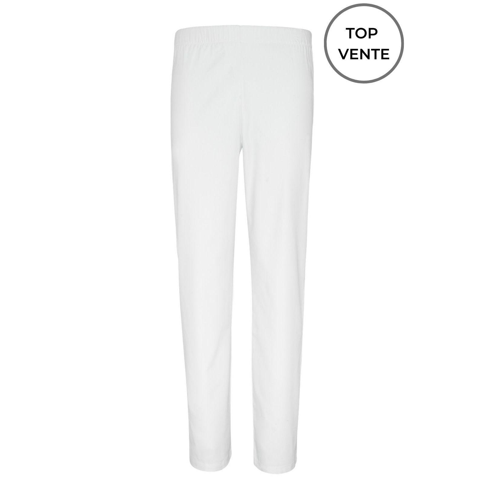 Pantalon médical blanc Unisexe, Lavage 60 degrés (CH11) top