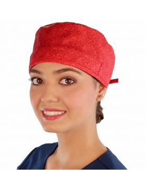 """Calot médical """"Médaillons rouges"""" (210-8903) vue face"""