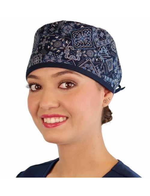 "Calot médical ""Bandana"" (210-8891-NA) femme face"