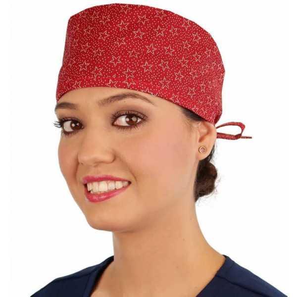 "Medical Cap ""Red Medallions"" (210-8903)"