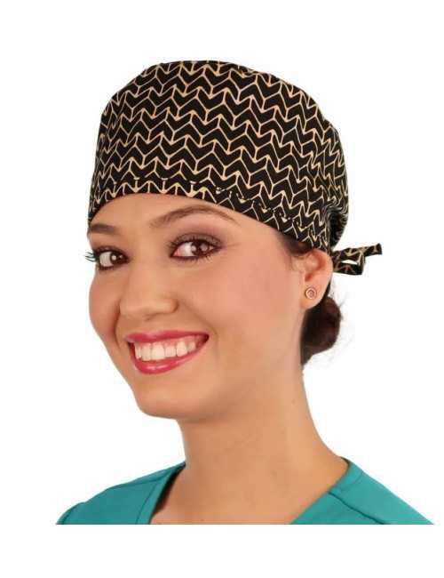 """Calot médical """"Flèches Batik"""" (210-8878) femme face"""