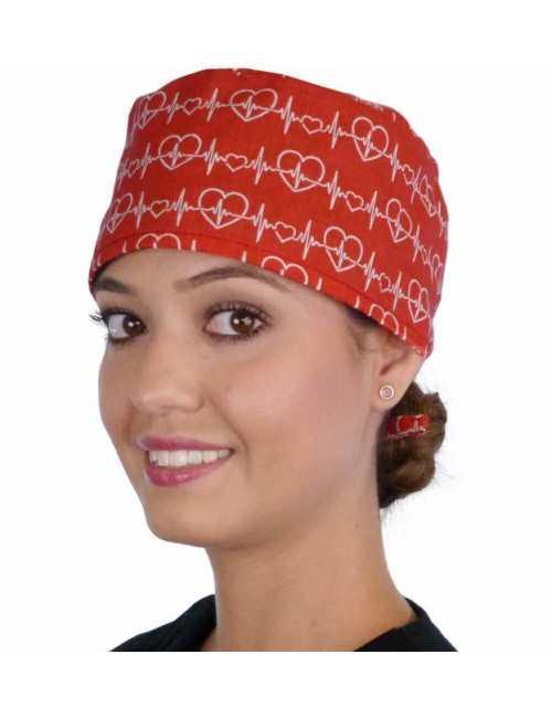 "Medical Cap ""Heartbeats of love"" (210-8837)"
