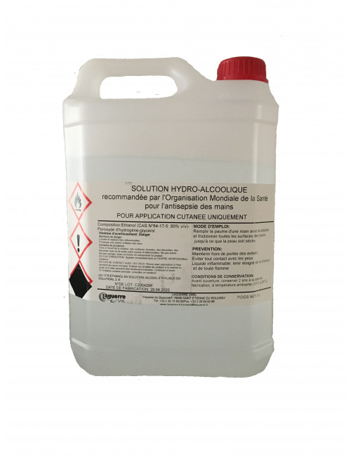 Hydroalcoholic Solution 5 litres