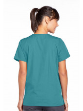 Blouse médicale Femme boutons pression, Cherokee Workwear Originals (4770) teal blue dos
