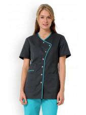 """Blouse médicale femme """"Eloïse"""", Clinic dress turquoise"""