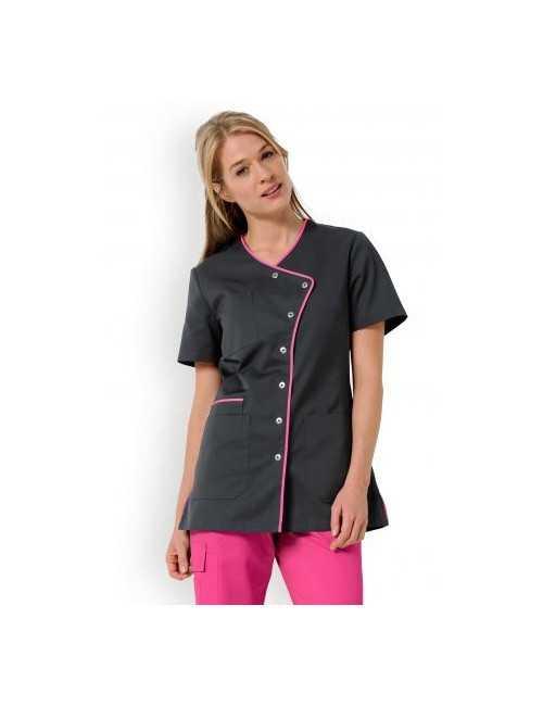 """Blouse médicale femme """"Eloïse"""", Clinic dress rose"""