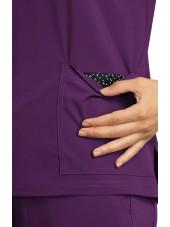 "Blouse médicale Femme Koi ""Becca"", collection Koi Basics (373-) aubergine poche"