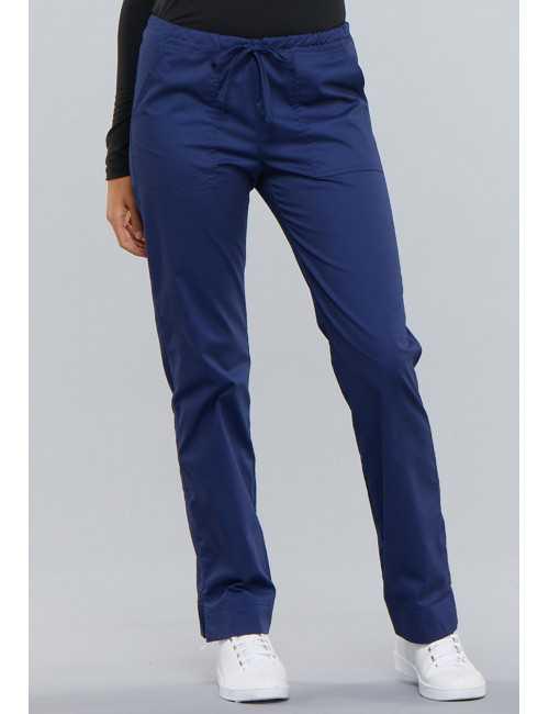 "Pantalon femme élastique Cherokee, Collection ""Core Stretch"" (4203) bleu face"