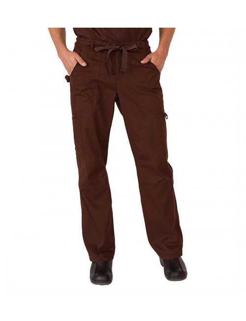 "Pantalon médical Homme Koi ""James"", collection Koi Classics (601-) marron"