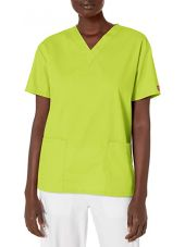 """Blouse médicale Col V Homme, Dickies, 2 poches, Collection """"EDS signature"""" (86706) marron"""