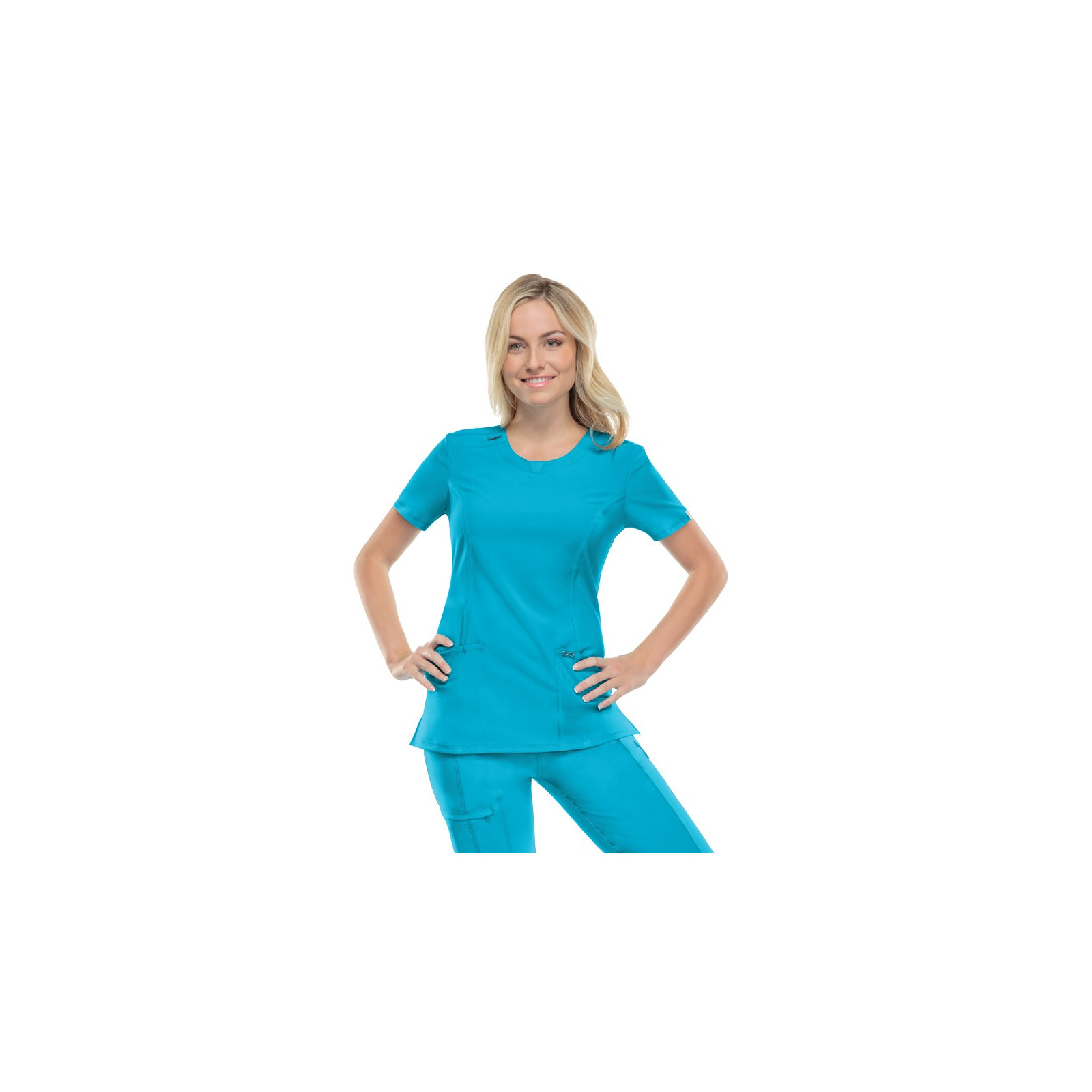 """Blouse antimicrobienne col rond, Cherokee collection """"Infinity"""" (2624A)"""