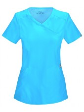 """Cache-cœur femme antimicrobien, Cherokee collection """"Infinity"""" (2625A), couleur turquoise, vue face"""