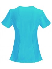 "Cache-cœur femme antimicrobien, Cherokee collection ""Infinity"" (2625A), couleur turquoise, vue dos"