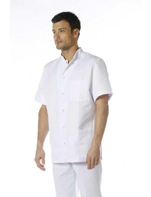 Blouse médicale unisexe pression, Mankaia factory, nouveau tissu! (007)