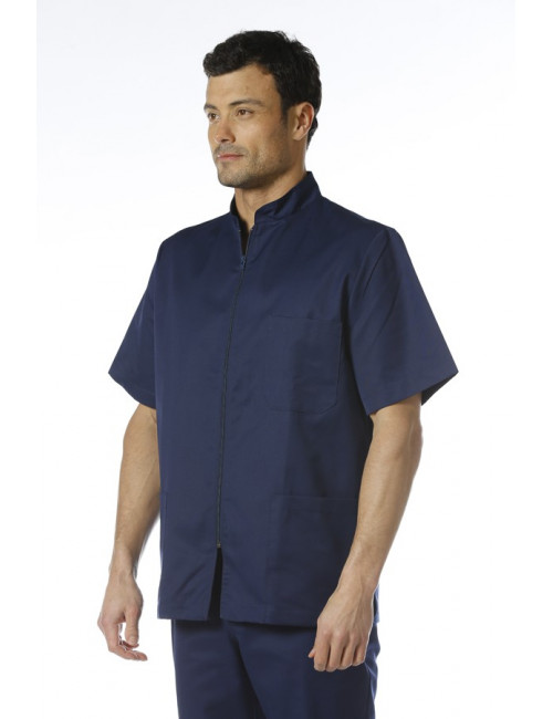 Men's medical coat with zipper, Mankaia Factory, new fabric (047)