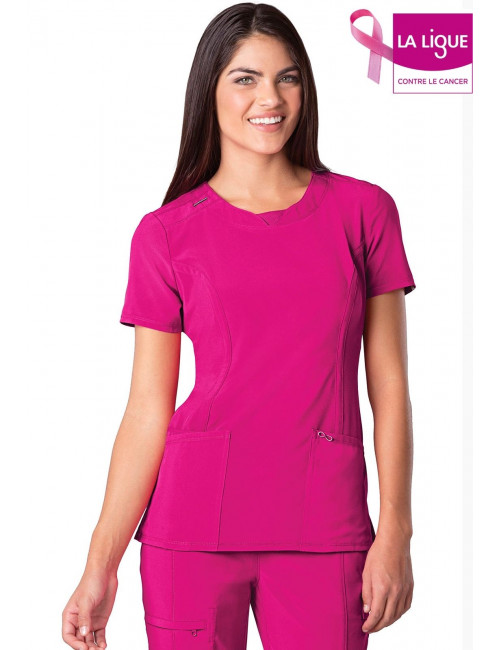 """Women's Antimicrobial Medical Gown Round Neck, Cherokee, """"Infinity"""" Collection (2624A)"""
