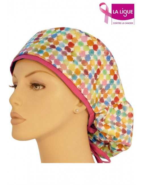 """Calot médical Cheveux Longs """"Confettis"""" (815-8756-HP)"""