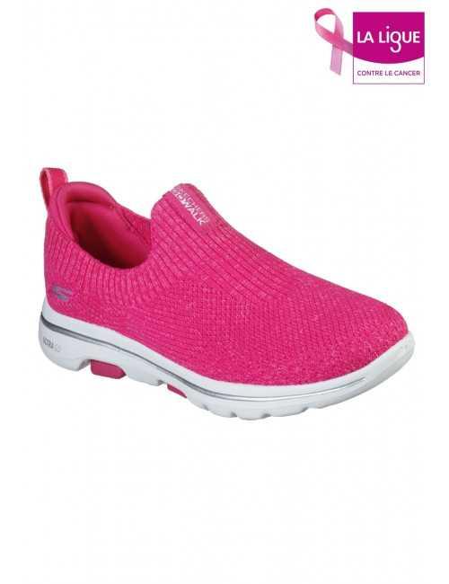 Skechers Go Walk 5 Trendy Women's Sneakers, Fuchsia (15952)