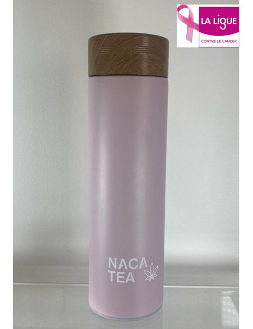 Bouteille thermos-infuseur rose, Nacatea (BTLNACA-ROS)