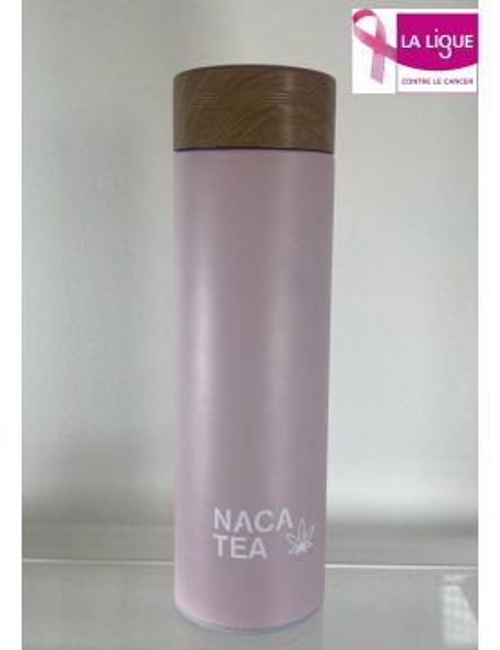 Pink thermo-infuser bottle, Nacatea (BTLNACA-ROS)