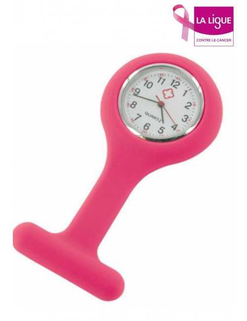 Fuchsia Silicone Nurse Watch