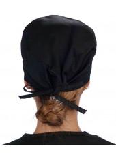 """Calot médical """"Noir"""" (210-1030) femme dos"""