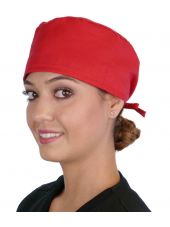 Calot médical Rouge (210-1032) femme face