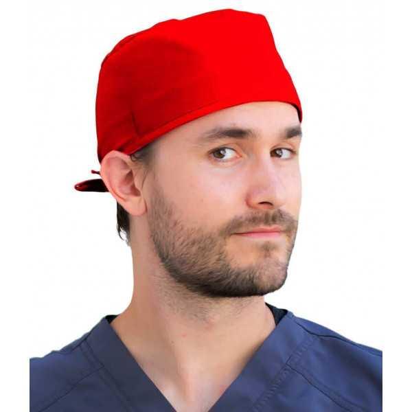 Calot médical Rouge (210-1032) homme face