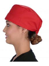 Calot médical Rouge (210-1032) femme coté