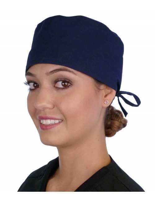 Calot médical Bleu marine (210-1034) femme face