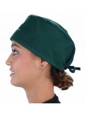 """Calot médical """"Vert foncé"""" (210-1124) femme coté"""