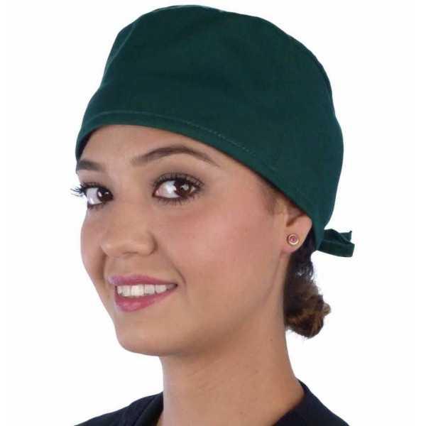 "Calot médical ""Vert foncé"" (210-1124) femme face"