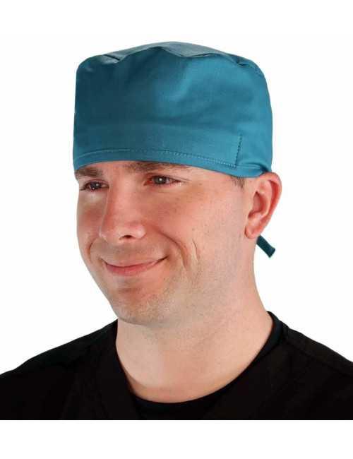 Calot médical Teal blue (210-1136) face