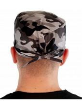 """Calot médical """"Camouflage militaire noir et gris"""" (210-8834)"""