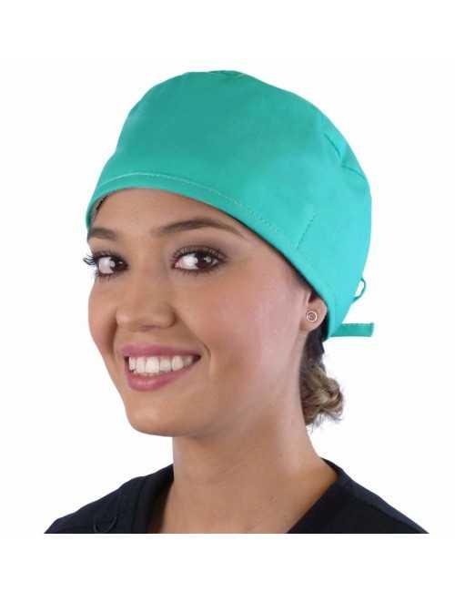 Calot médical Vert d'eau (210-1141) femme face