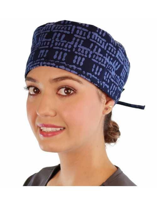 """Medical Cap """"Batik Blue"""" (210-8905)"""