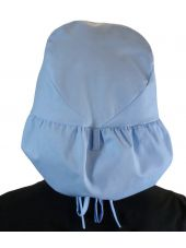 "Calot médical Cheveux Longs ""Bleu Ciel"" (815-1134) dos"