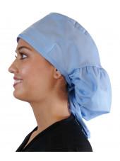 """Calot médical Cheveux Longs """"Bleu Ciel"""" (815-1134) gauche"""