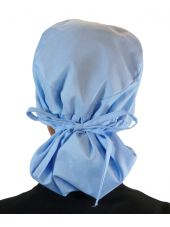 """Calot médical Cheveux Longs """"Bleu Ciel"""" (815-1134) attaché"""