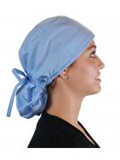"""Calot médical Cheveux Longs """"Bleu Ciel"""" (815-1134) droite"""