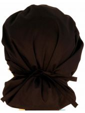 """Calot médical Cheveux Mi-Longs """"Battements coeur rouge"""" (214-8808) dos"""
