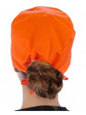 Calot médical Orange (210-1033) femme dos