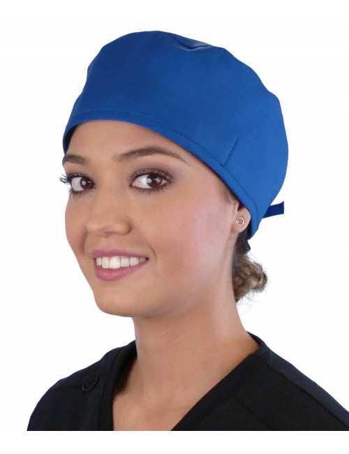 Calot médical Bleu royal (210-1037) femme face