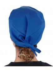 Calot médical Bleu royal (210-1037) femme dos