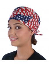 "Calot médical ""USA"" (210-1001) femme face"