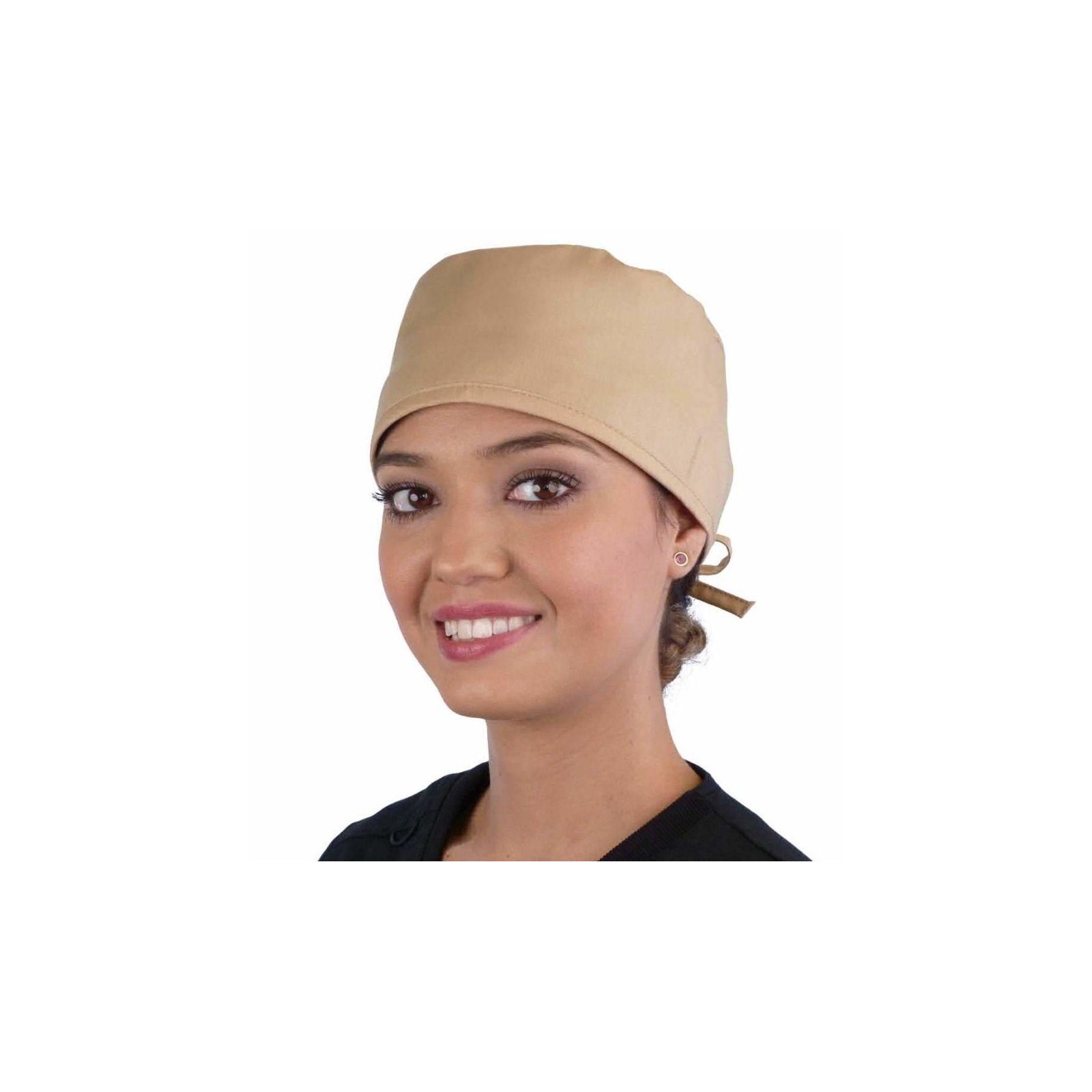 Calot médical Beige (210-1039) femme face