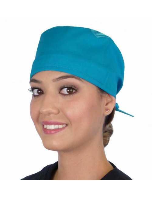 Calot médical Turquoise (210-1148) femme face