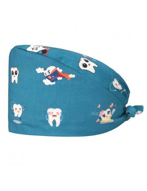 """Calot médical """"Dents sur fond bleu caraibe"""" (209-22213) produit"""